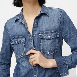 J.Crew Current-Label Western Pearl Snap Shirt